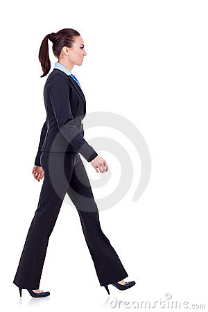 Free Young Business Woman Is Walking Royalty Free Stock Photo - 18360305