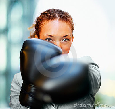 Young business woman - Knockout