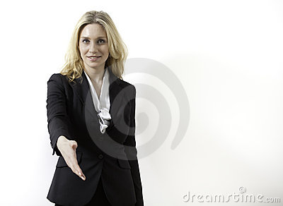Young Business Woman is Ready to Make a Deal