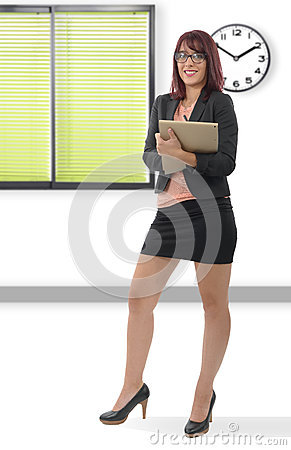 Free Young Business Woman Smiling, In An Office Royalty Free Stock Photos - 77573408