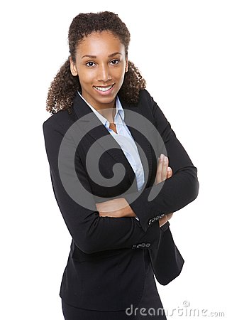 Free Young Business Woman Smiling With Arms Crossed Stock Photo - 43362130