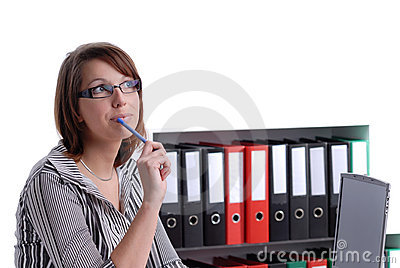 Young business wondering woman