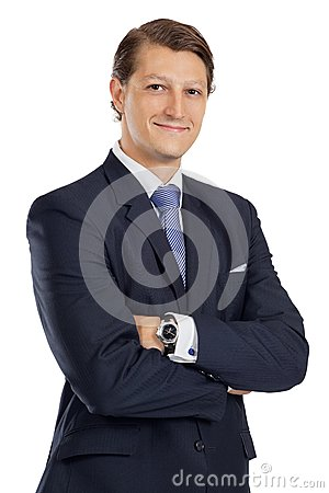 Young Businessman With Arms Crossed Stock Photography - Image: 26524462
