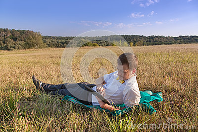 Young businessman browsing in Internet