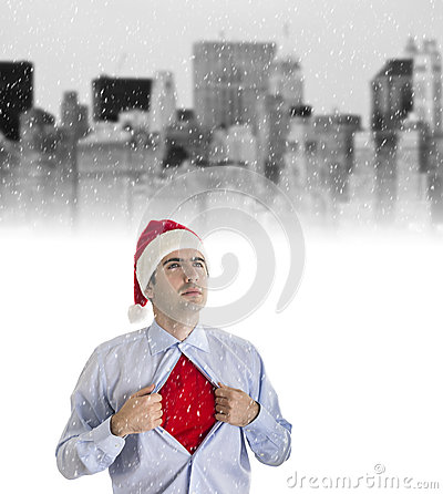 Young Businessman in Christmas Style