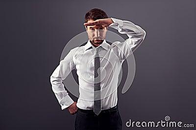 Businessman find new job