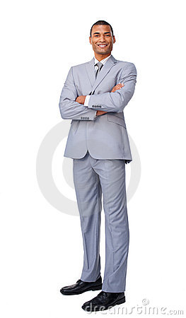 Young Businessman With Folded Arms Royalty Free Stock Photography - Image: 12211647