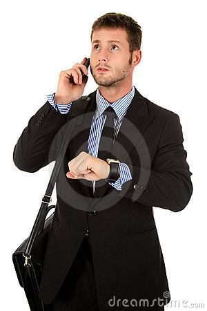 Free Young Businessman Impatient Stock Photography - 17204432