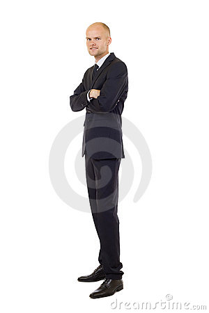Young businessman isolated on a white