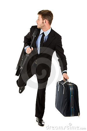 Young businessman ready for travelling