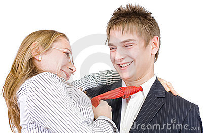 Young businessman s romance