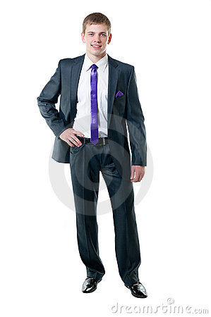 The young businessman in a suit