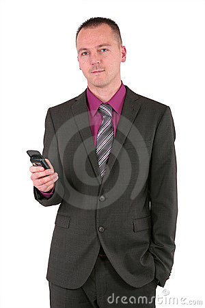 Young businessman using a smart phone