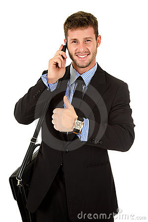 Free Young Businessman With Thumb Up Stock Photos - 17090983
