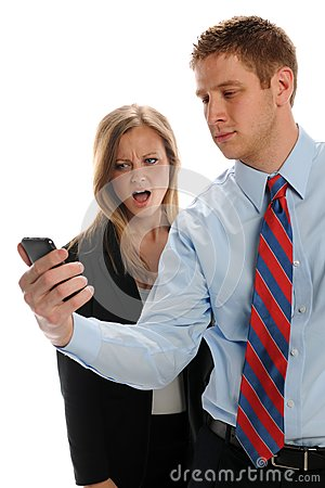Young Businesspeople with cell phone