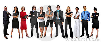 Young Businesspeople Standing