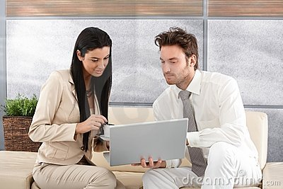Young businesspeople working together Stock Photo