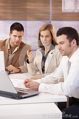 Free Young Businesspeople Working Together Stock Image - 30529471