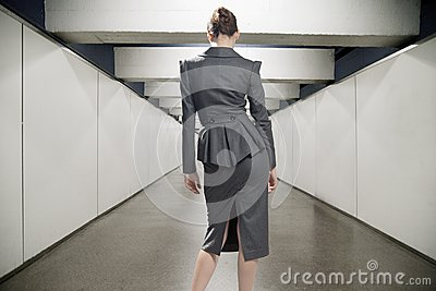 Young businesswoman in a corridor