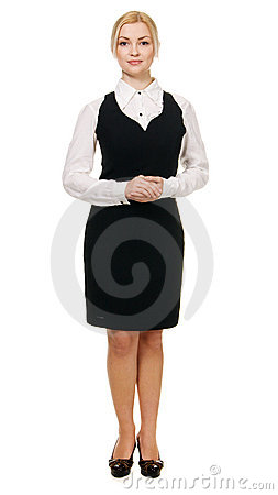 Young businesswoman full length portrait