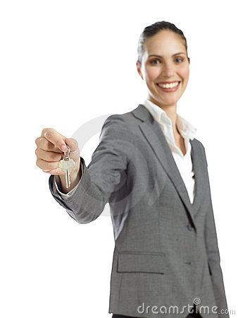 Free Young Businesswoman Holding A Key Stock Photos - 16807483