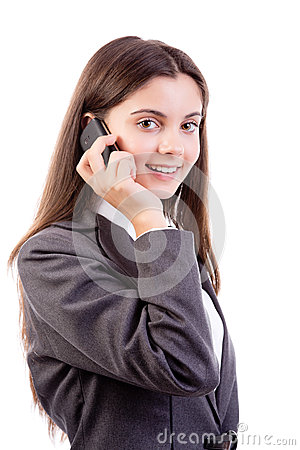 Young businesswoman on mobile phone