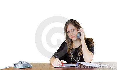 Young businesswoman in an office