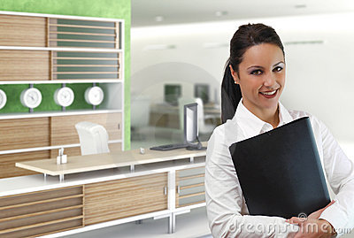 Young businesswoman in office environment