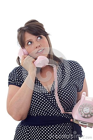 Young businesswoman talks on the phone