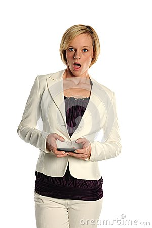 Young Businesswoman text