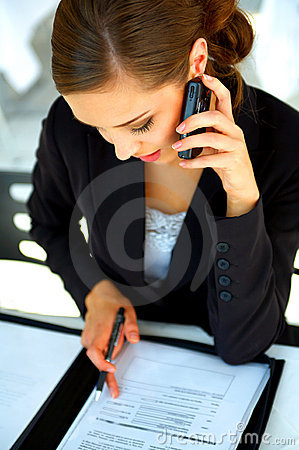 Young businesswoman working at a restaurent of cafe location