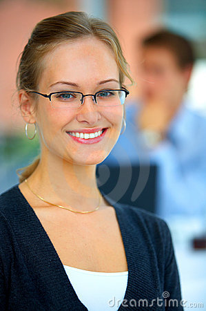 Young businesswoman - A world of opportunities