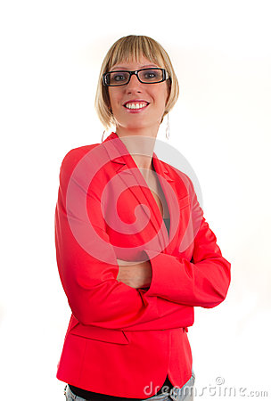 Young bussines woman with glasses