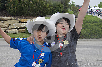 Young Calgary Stampede Fans Editorial Photo