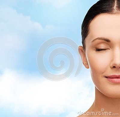 Free Young Calm Woman With Closed Eyes Royalty Free Stock Photography - 38524927