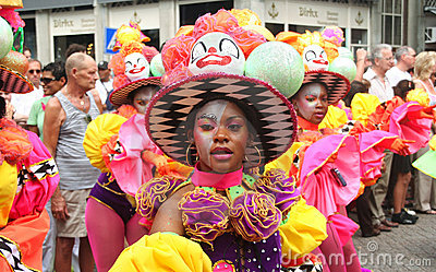 Young Carnival Dancer Editorial Stock Image