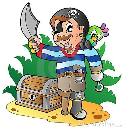 Young cartoon pirate 2