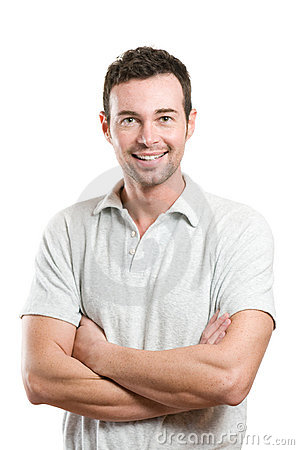 Free Young Casual Happy Smiling Man Royalty Free Stock Image - 12922436