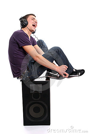 Free Young Casual Man Listening To Music Stock Photography - 5661292