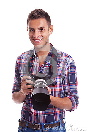 Young casual photographer