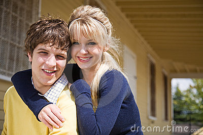 Young caucasian couple