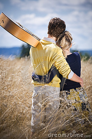 Free Young Caucasian Couple In Love Stock Photography - 9106482
