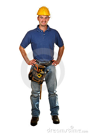 Free Young Caucasian Man Tool 05 Royalty Free Stock Photography - 6959067