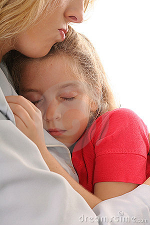 Free Young Child Asleep On Mother Stock Photos - 3592433