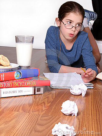 Young Child Studying