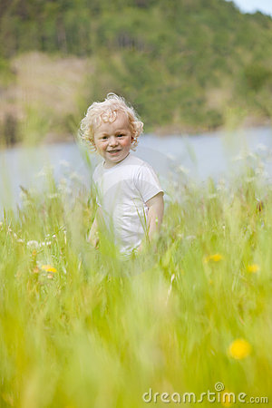 Young Child in Tall Grass