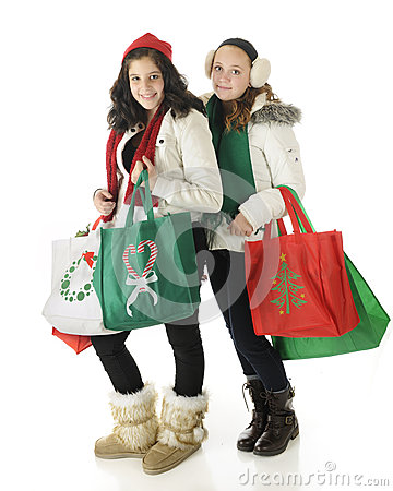 Young Christmas Shoppers