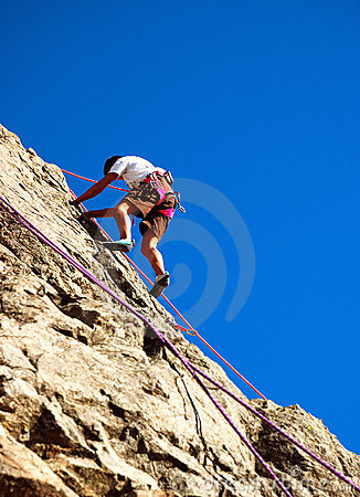 Free Young Climber Royalty Free Stock Photo - 1890565