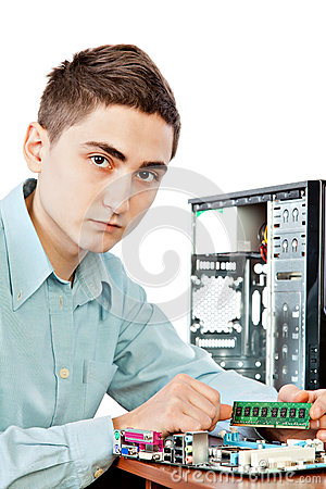 Young computer engineer