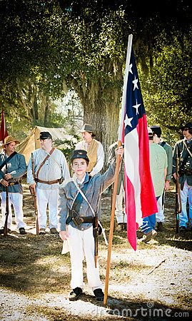 Young Confederate Soldier Editorial Photo